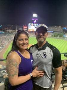Dolores attended Colorado Rockies vs. Oakland Athletics - MLB on Jun 4th 2021 via VetTix