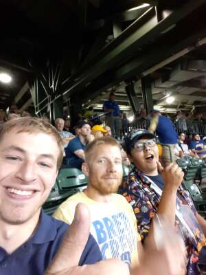 Trey attended Milwaukee Brewers vs. San Diego Padres - MLB on May 25th 2021 via VetTix