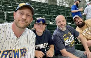 Patrick  attended Milwaukee Brewers vs. San Diego Padres - MLB on May 25th 2021 via VetTix