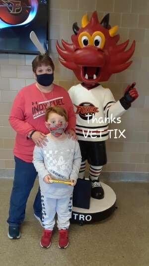 Chaz attended Indy Fuel vs. Fort Wayne Komets -ECHL on May 31st 2021 via VetTix