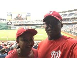 Ernest Merriweather attended Washington Nationals vs. Miami Marlins - MLB on Jul 20th 2021 via VetTix
