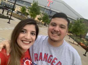 Lopez  attended Texas Rangers vs. Tampa Bay Rays - MLB on Jun 4th 2021 via VetTix