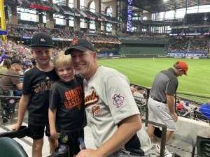 Wade attended Texas Rangers vs. San Francisco Giants - MLB on Jun 9th 2021 via VetTix