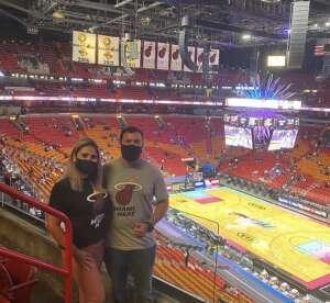 Lopez attended Miami Heat vs. Milwaukee Bucks - NBA Playoffs - Round 1 - Game 1 on May 27th 2021 via VetTix