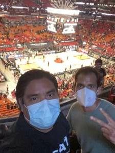 Alfredo Guevara attended Miami Heat vs. Milwaukee Bucks - NBA Playoffs - Round 1 - Game 1 on May 27th 2021 via VetTix