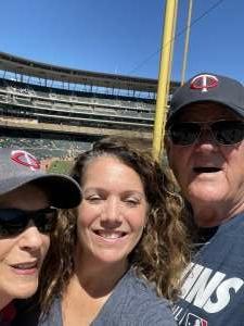 Meredith attended Minnesota Twins vs. Cincinnati Reds - MLB on Jun 22nd 2021 via VetTix