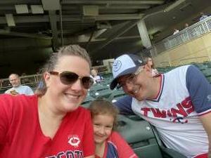 Whitney Price attended Minnesota Twins vs. Cleveland Indians - MLB on Jun 25th 2021 via VetTix