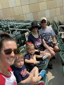 Jenna attended Minnesota Twins vs. Detroit Tigers - MLB on Jul 11th 2021 via VetTix