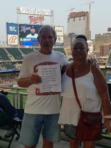 Gene attended Minnesota Twins vs. Detroit Tigers - MLB on Jul 26th 2021 via VetTix