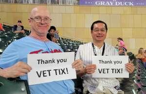 randyvalt attended Minnesota Twins vs. Detroit Tigers - MLB on Jul 27th 2021 via VetTix