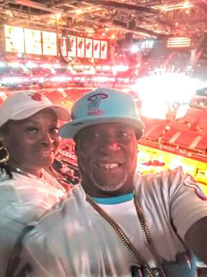 The Youngs attended Miami Heat vs. Milwaukee Bucks - Military Appreciation Night - NBA Playoffs - Round 1 - Home Game 2 on May 29th 2021 via VetTix