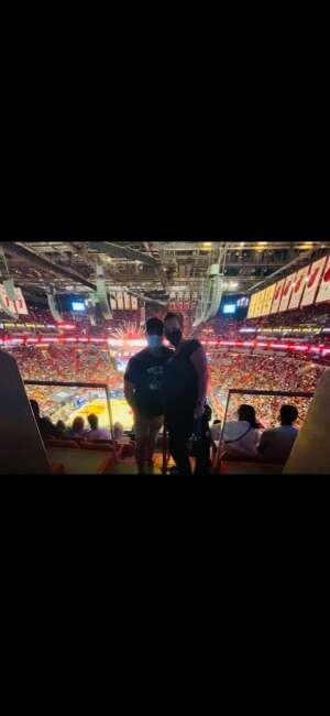E. Rodriguez  attended Miami Heat vs. Milwaukee Bucks - Military Appreciation Night - NBA Playoffs - Round 1 - Home Game 2 on May 29th 2021 via VetTix