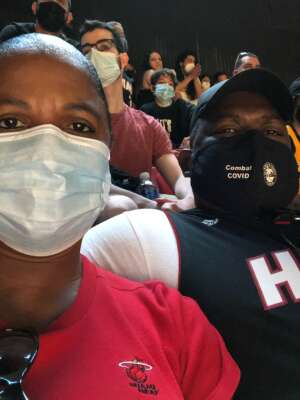 Lawrence attended Miami Heat vs. Milwaukee Bucks - Military Appreciation Night - NBA Playoffs - Round 1 - Home Game 2 on May 29th 2021 via VetTix