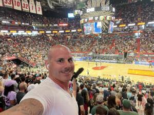 Michael attended Miami Heat vs. Milwaukee Bucks - Military Appreciation Night - NBA Playoffs - Round 1 - Home Game 2 on May 29th 2021 via VetTix