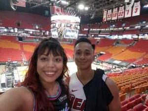 Khanh attended Miami Heat vs. Milwaukee Bucks - Military Appreciation Night - NBA Playoffs - Round 1 - Home Game 2 on May 29th 2021 via VetTix