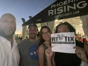 TJ McCarthy attended Phoenix Rising FC vs. Tacoma Defiance - USL on Jun 12th 2021 via VetTix