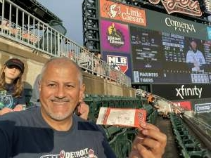 Paul Chavez' attended Detroit Tigers vs. Seattle Mariners - MLB on Jun 8th 2021 via VetTix