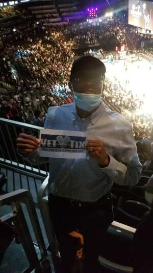 Wendell attended Brooklyn Nets vs. Boston Celtics - NBA - First Round Playoffs! ** Vaccinated Fan Section Only ** on Jun 1st 2021 via VetTix