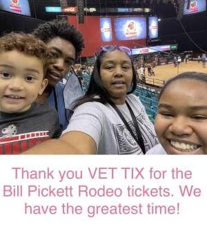 Tameisha Guillory attended Bill Pickett Invitational Rodeo in Association With PBR on Jun 13th 2021 via VetTix