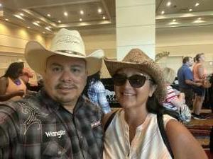 1SG David Lopez, U.S. Army Retired attended Bill Pickett Invitational Rodeo in Association With PBR on Jun 13th 2021 via VetTix