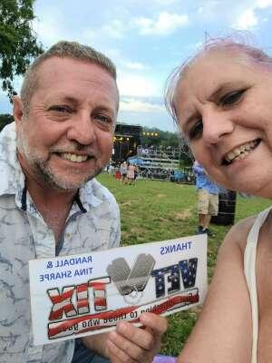 Randall & Tina Sharpe attended Justin Moore on Jun 5th 2021 via VetTix