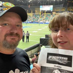 rajun_cajun attended Frisco Fighters vs. Duke City Gladiators: Professional Indoor Football League (IFL) - Frisco Heroes Night on Jun 5th 2021 via VetTix