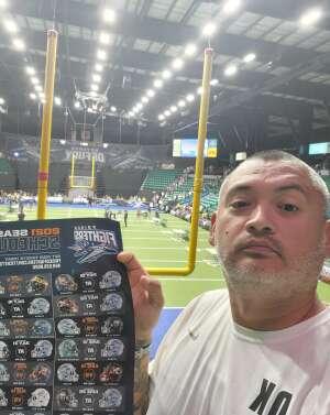 Mundo attended Frisco Fighters vs. Duke City Gladiators: Professional Indoor Football League (IFL) - Frisco Heroes Night on Jun 5th 2021 via VetTix