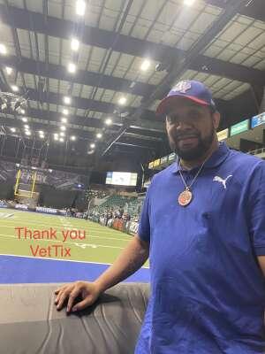 Dee Thomas attended Frisco Fighters vs. Duke City Gladiators: Professional Indoor Football League (IFL) - Frisco Heroes Night on Jun 5th 2021 via VetTix