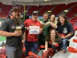 Rich attended Green Bay Blizzard vs. Iowa Barnstormers - Military Appreciation Night on Jun 25th 2021 via VetTix