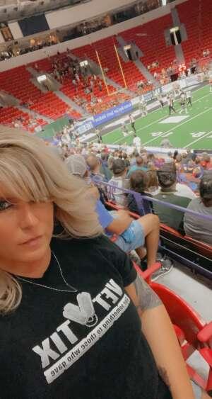Melissa Medeiros attended Green Bay Blizzard vs. Iowa Barnstormers - Military Appreciation Night on Jun 25th 2021 via VetTix