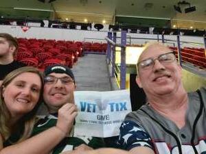 Keith  attended Green Bay Blizzard vs. Iowa Barnstormers - Military Appreciation Night on Jun 25th 2021 via VetTix