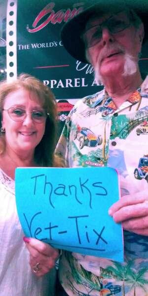 Frank and Judy we  attended Barrett-jackson 2021 Las Vegas Auction on Jun 18th 2021 via VetTix