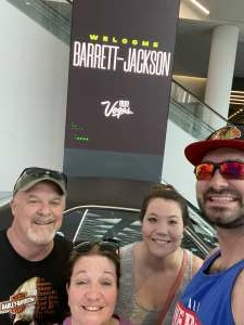 Mobley Family attended Barrett-jackson 2021 Las Vegas Auction on Jun 18th 2021 via VetTix