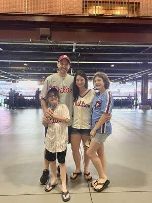 The Dougherty Family attended Philadelphia Phillies vs. Atlanta Braves - MLB on Jun 8th 2021 via VetTix