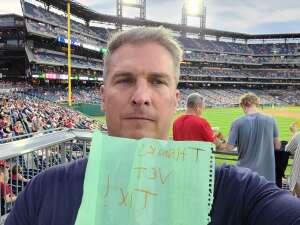 GALEN attended Philadelphia Phillies vs. Atlanta Braves - MLB on Jun 9th 2021 via VetTix