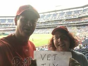 Bob Valek  attended Philadelphia Phillies vs. Atlanta Braves - MLB on Jun 9th 2021 via VetTix