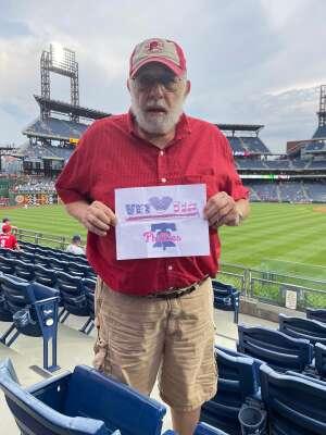 Larry G attended Philadelphia Phillies vs. Atlanta Braves - MLB on Jun 9th 2021 via VetTix