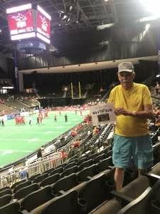 Ray Hall attended Jacksonville Sharks vs. Orlando Predators - National Arena League on Jun 12th 2021 via VetTix