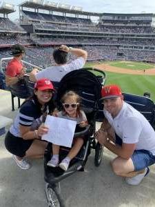 Claudia  attended Washington Nationals vs. San Francisco Giants - MLB on Jun 10th 2021 via VetTix