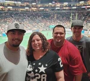 Tony P. attended Arizona Rattlers vs. Tucson Sugar Skulls on Jun 12th 2021 via VetTix
