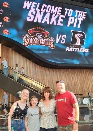 Todd attended Arizona Rattlers vs. Tucson Sugar Skulls on Jun 12th 2021 via VetTix