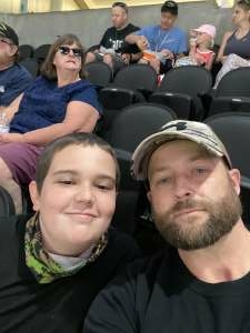 Nelson family attended Arizona Rattlers vs. Tucson Sugar Skulls on Jun 12th 2021 via VetTix