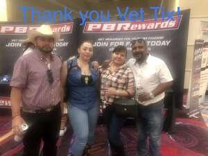 Flores attended PBR Unleash the Beast on Jun 12th 2021 via VetTix