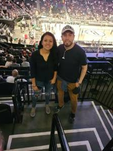 A1C Sandra Flores  attended Brooklyn Nets vs. Milwaukee Bucks - NBA - Second Round Playoffs! Game 1 ** Vaccinated Fan Section Only ** on Jun 5th 2021 via VetTix