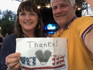Dan and Kathy Davis attended An Evening With Chicago and Their Greatest Hits on Jun 30th 2021 via VetTix