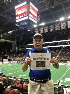 Ray Hall attended Jacksonville Sharks vs. Albany Empire - National Arena League on Jun 26th 2021 via VetTix