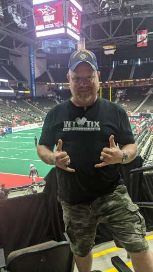 Adam attended Jacksonville Sharks vs. Albany Empire - National Arena League on Jun 26th 2021 via VetTix