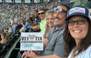 Rochelle B. attended Colorado Rockies vs. Milwaukee Brewers - MLB on Jun 18th 2021 via VetTix