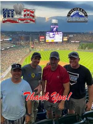 JJ Grindrod attended Colorado Rockies vs. Milwaukee Brewers - MLB on Jun 18th 2021 via VetTix