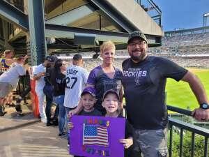 Tim Macho attended Colorado Rockies vs. Milwaukee Brewers - MLB on Jun 18th 2021 via VetTix